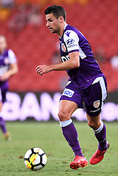 January 18, 2018 - Brisbane, QUEENSLAND, AUSTRALIA - Joel Chianese of the Glory (#7) in action during the round seventeen Hyundai A-League match between the Brisbane Roar and the Perth Glory at Suncorp Stadium on January 18, 2018 in Brisbane, Australia. (Credit Image: © Albert Perez via ZUMA Wire)