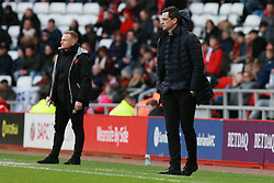 March 16, 2019 - Sunderland, Tyne and Wear, United Kingdom - Sunderland manager Jack Ross and Walsall manager Dean Keates during the Sky Bet League 1 match between Sunderland and Walsall at the Stadium Of Light, Sunderland on Saturday 16th March 2019. (Credit: Steven Hadlow | MI News) (Credit Image: © Mi News/NurPhoto via ZUMA Press)