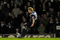 Dan Harding (Southend United) scores from a free kick. Southend United Vs Leeds United.Coca Cola League 1. Roots Hall. Southend. 28/10/08 Credit Colorsport/Garry Bowden