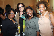 24 June 2010- Miami Beach, Florida- l to r: Janice Burgess, Brown Johnson, Guest, Andrea Wade at the The 2010 American Black Film Festival Founder's Brunch held at Emeril's on June 24, 2010. Photo Credit: Terrence Jennings/Sipa