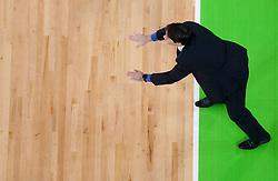 Sasa Filipovski, head coach of Union Olimpija during basketball match between KK Union Olimpija and Mapooro Cantu (ITA) in 6th Round of Regular season of Euroleague 2012/13 on November 15, 2012 in Arena Stozice, Ljubljana, Slovenia. (Photo By Vid Ponikvar / Sportida)