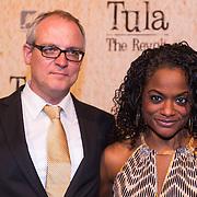 NLD/Amsterdam/20130625 - Premiere van de film Tula The Revolt, actrice Izaline Calister met haar partner