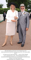 MR KEN BATES chairman of Chelsea FC and MISS SUSANNAH DWYER, at Royal Ascot on 17th June 2003.PKN 7