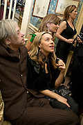 SIR BOB GELDOF, JEANNE MARINE AND JEMIMA KHAN  , Pre Bafta dinner hosted by Charles Finch and Chanel. Mark's Club. Charles St. London. 9 February 2008.  *** Local Caption *** -DO NOT ARCHIVE-© Copyright Photograph by Dafydd Jones. 248 Clapham Rd. London SW9 0PZ. Tel 0207 820 0771. www.dafjones.com.
