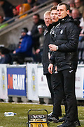 Oran Kearney St Mirren Manager looks on during the Ladbrokes Scottish Premiership match between St Mirren and Livingston at the Simple Digital Arena, Paisley, Scotland on 2nd March 2019.