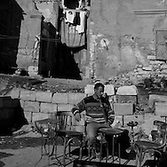 Egypt. Cairo : SHARIA BAB EL WAZIR    street at the entrance of cemetery north . , islamic Cairo
