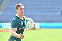 October 21, 2016 - Auckland, New Zealand - Dane Haylett-Petty takes pass during the Australia Wallabies captain's run at Eden Park on October 21, 2016 in Auckland, New Zealand, ahead of the Third Bledisloe Cup test match against New Zealand on Oct 22. (Credit Image: © Shirley Kwok/Pacific Press via ZUMA Wire)