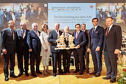 11.05.2017, Congress Centrum, Alpbach, AUT, Landeshauptleutekonferenz, Verabschiedung, im Bild v.l. LH Wilfried Haslauer (SBG), LH Hermann Schützenhöfer (ST), LH Michael Häupl (WI), LH Johanna Mikl-Leitner (NÖ), LH Erwin Pröll (NÖ), LH Josef Pühringer (OÖ), LH Günther Platter (TI), LH Peter Kaiser (KT), LH Markus Wallner (VLB), LH Thomas Stelzer (OÖ) // during the Governors conference of the Austrian Provinces at Congress Centrum in Alpbach, Austria on 2017/05/11. EXPA Pictures © 2017, PhotoCredit: EXPA/ Johann Groder