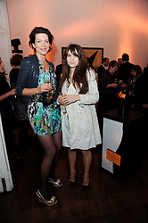 Left to right, THOMASINA MIERS and MARTHA FREUD at the presentation of the Veuve Clicquot Business Woman Award 2010 held at the Institute of Contemporary Arts, 12 Carlton House Terrace, London on 23rd March 2010.  The winner was Laura Tenison - Founder and Managing Director of JoJo Maman Bebe.
