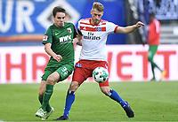 v.l. Raphael Framberger, Aaron Hunt (HSV)<br /> <br /> Hamburg, 19.08.2017, Fussball Bundesliga, Hamburger SV - FC Augsburg 1:0<br /> <br /> Norway only