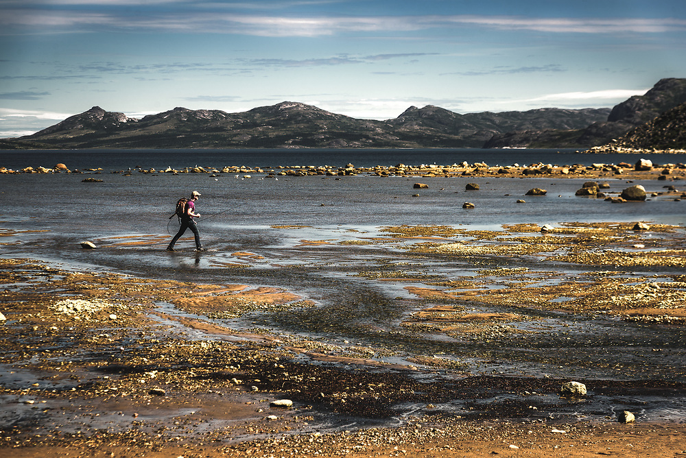 Fishing on the coast in Nain, Newfoundland and Labrador