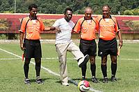 """20091105: SANTOS, BRAZIL - Brazilian football legend Pele kicks off Dondinho Football Cup, a youth tournament in honor of Pele's father, Joao Ramos do Nascimento """"Dondinho"""". PHOTO: CITYFILES"""