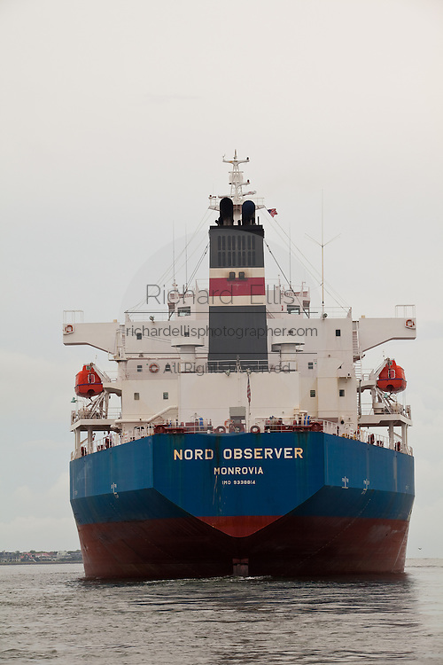 Stern of a container ship leaving Charleston Harbor in Charleston, South Carolina (photo by Charleston SC photographer Richard Ellis)