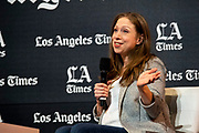 """Chelsea Clinton, the Clinton foundation and bestselling children's author, discusses her latest book, """"Don't Let Them Disappear,"""" with Los Angeles Times Culture Critic/Columnist Mary McNamara.at the Los Angeles Times Festival of Books held at the USC Campus in Los Angeles, California on Sunday, April 14, 2019"""