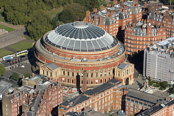 © Licensed to London News Pictures. 26/04/2016. London, UK. The Royal Albert Hall is a concert hall on the northern edge of South Kensington, London, which holds the Proms concerts annually each summer since 1941. It has a capacity of up to 5,272 seats. Photo credit: Martin Apps/LNP