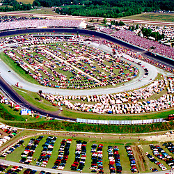 Aerial views of Dover International Raceway  Dover Delaware Aerial view of Dover International Speedway as seen in 1993, Dover Delaware