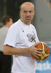 Head coach of Slovenia Jure Zdovc during the practice session, on September 11, 2009 in Arena Lodz, Hala Sportowa, Lodz, Poland.  (Photo by Vid Ponikvar / Sportida)