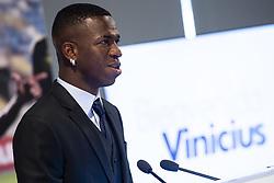 July 20, 2018 - Madrid, Spain - Vinicius Jr. during his presentation as new Real Madrid player at Santiago Bernabéu Stadium in Madrid, Spain. July 20, 2018. (COOLMEDIA/BorjaB.Hojas) (Credit Image: © Coolmedia/NurPhoto via ZUMA Press)