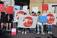 Roma 19 Febbraio 2013 .Ragazzi in mutande davanti l'università La Sapienza per il flash mob di Fare per fermare il declino  per un università migliore e per chiedere una maggiore collaborazione tra mondo dell'industria del lavoro e le università..