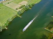 Nederland, Utrecht, Gemeente Rhenen, 27-05-2020; binnenvaartschip op de Neder-rijn ter hoogte van Rhenen.<br /> Inland vessel on the Lower Rhine near Rhenen.<br /> <br /> luchtfoto (toeslag op standaard tarieven);<br /> aerial photo (additional fee required)<br /> copyright © 2020 foto/photo Siebe Swart
