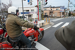 Wheels and Waves' Vincent Prat on the Blue Groove shop ride from Kamakura to Miura Penninsula. Japan. Monday December 4, 2017. Photography ©2017 Michael Lichter.