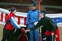 Langrenn, 27. feburar 2003, Junior NM, Betty Ann Nilsen, Torridal (t.h.), ble nummer tre etter Astrid Øvstedal, Strindheim (midten) og Karianne Bjellånes, Bossmo og Ytteren