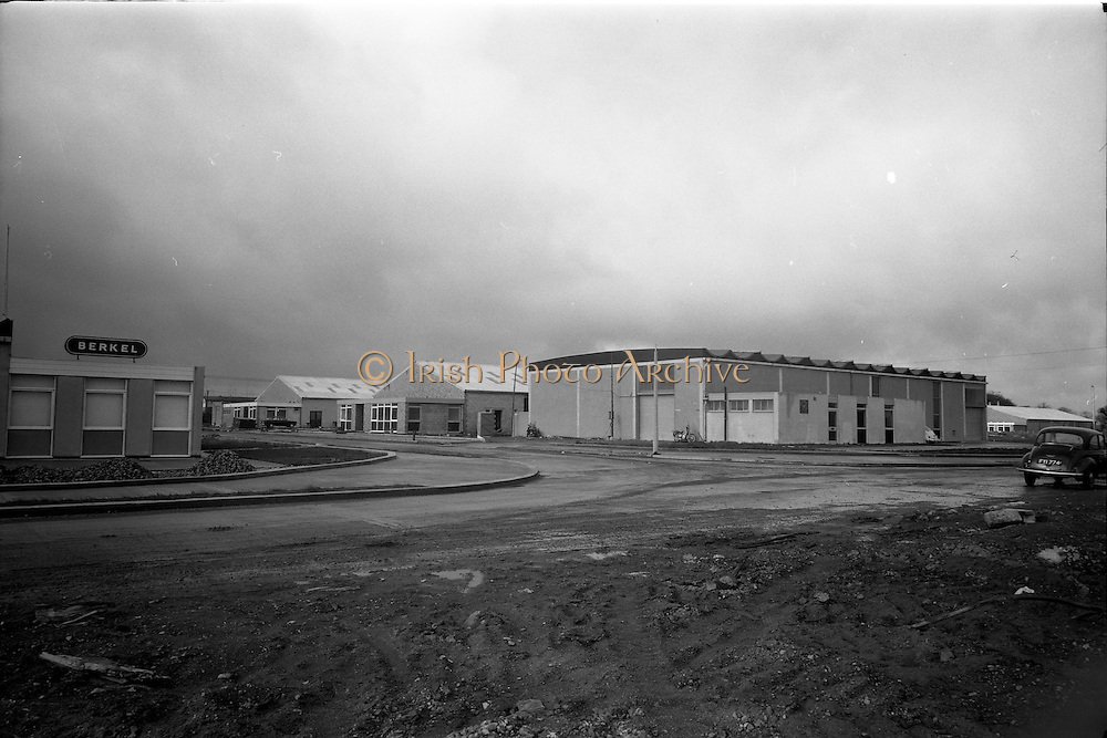 26/03/1966<br /> 03/26/1966<br /> 26 March 1966<br /> Lyon Group Industrial Estate at Glasnevin, Dublin. View of the estate, sign on left says Berkel.