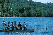 fishermen pulling net, Samana Bay, Dominican Republic ( Caribbean Sea )