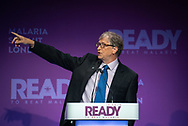THE MALARIA SUMMIT LONDON 2018<br /> Opening Session: Setting the Scene<br /> Keynote address: Bill Gates, Co Chair Bill & Melinda Gates Foundation speaking.<br /> Photo©Steve Forrest/WHO/Panos