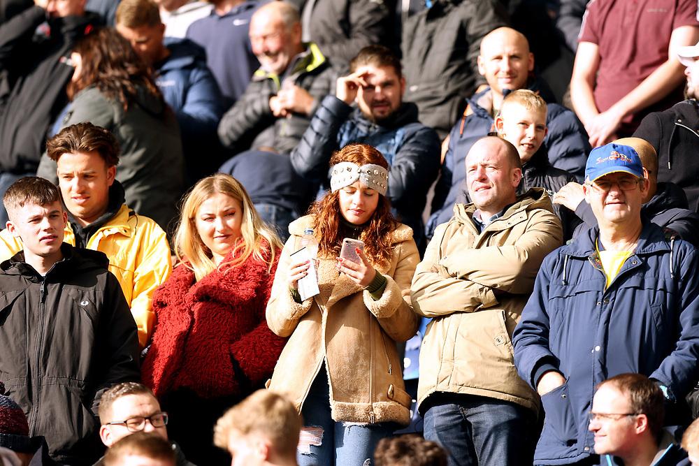 Blackburn Rovers fans enjoy the atmosphere ahead of kick-off<br /> <br /> Photographer Rich Linley/CameraSport<br /> <br /> The EFL Sky Bet Championship - Preston North End v Blackburn Rovers - Saturday 26th October 2019 - Deepdale Stadium - Preston<br /> <br /> World Copyright © 2019 CameraSport. All rights reserved. 43 Linden Ave. Countesthorpe. Leicester. England. LE8 5PG - Tel: +44 (0) 116 277 4147 - admin@camerasport.com - www.camerasport.com