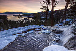 Emerald Bay Sunrise at Eagle Falls. Emerald Bay is one of the gems of Lake Tahoe on the California side of the lake. Eagle Falls is a is a bit of icing on the cake.