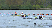 Reading. United Kingdom. GBR W1X. Victoria THORNLEY, leads home the field in her afternoon semi final.   Redgrave and Pinsent Rowing Lake. Caversham.<br /> <br /> 14:05:05  Saturday  19/04/2014<br /> <br />  [Mandatory Credit: Peter Spurrier/Intersport<br /> Images]