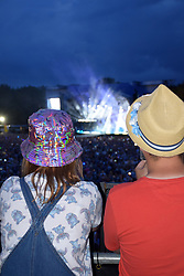 Latitude Festival, Henham Park, Suffolk, UK July 2019. Watching Stereophonics from the Pepsi tower at the back