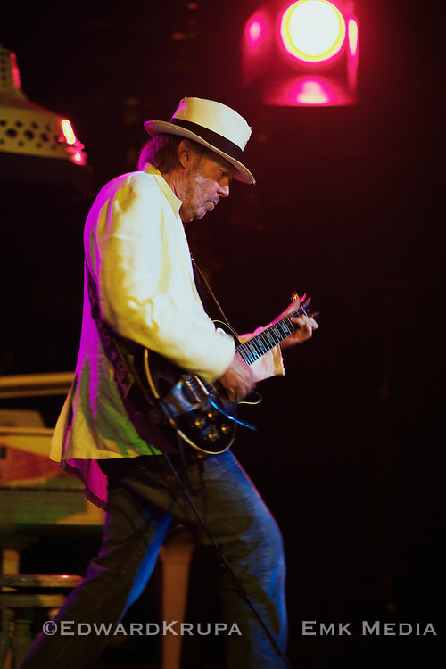 """Neil Young playing his """"Old Black"""" Les Paul at Massey Hall in Toronto, Canada May 11th 2011."""