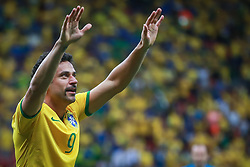 Fred comemora seu gol na partida entre Camarões x Brasil, válida pela terceira rodada do Grupo A da Copa do Mundo 2014, no Estádio Nacional Mané Garrincha, em Brasília-DF. FOTO: Jefferson Bernardes/ Agência Preview