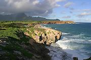 Punahoa Point, sand dunes, Maha'ulepu, Kauai, Hawaii<br />