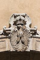 Krakow Eagle Crest set in stone in Krakow Poland