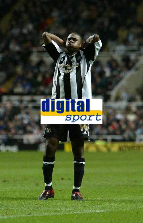 Photo: Andrew Unwin.<br />Newcastle United v Southampton. The FA Cup. 18/02/2006.<br />Newcastle's Charles N'Zogbia rues a missed opportunity.