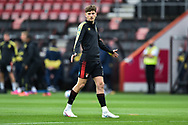 David Brooks (7) of AFC Bournemouth warming up ahead of the EFL Sky Bet Championship match between Bournemouth and Stoke City at the Vitality Stadium, Bournemouth, England on 8 May 2021.