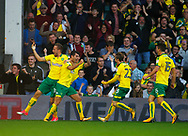 Norwich City's Nelson Oliveira celebrates after scoring the equaliser during the EFL Sky Bet Championship match between Norwich City and Hull City at Carrow Road, Norwich, England on 14 October 2017. Photo by John Marsh.
