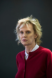 Pictured: Siri Hustvedt is an American novelist and essayist. Hustvedt is the author of a book of poetry, six novels, two books of essays, and several works of non-fiction<br /> Book fanatics headed to Charlotte Square in Edinburgh which is the hub of the international Book Festival to meet the authors and also to meet up with fellow fans of the printed word.<br /> <br /> <br /> Ger Harley | EEm 17 August 2017