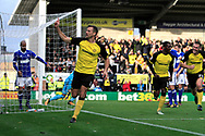 Burton Albion defender Ben Turner (6) celebrates scoring a goal, making the score 1-0,  during the EFL Sky Bet Championship match between Burton Albion and Ipswich Town at the Pirelli Stadium, Burton upon Trent, England on 28 October 2017. Photo by Richard Holmes.