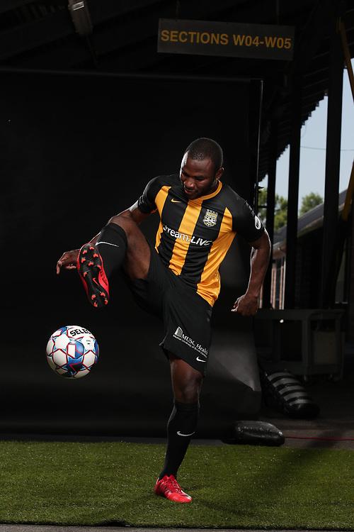Tah Brian Anunga (22)<br /> Media Day, Home Kits, Charleston Battery at MUSC Health Stadium in Charleston, S.C. on Tuesday, June 19, 2018.<br /> Zach Bland/Charleston Battery