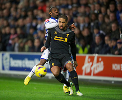 30.12.2012, Loftus Road, London, ENG, Premier League, Queens Park Rangers vs FC Liverpool, 20. Runde, im Bild Liverpool's Glen Johnson in action against Queens Park Rangers during the English Premier League 20th round match between Queens Park Rangers and Liverpool FC at Loftus Road, London, Great Britain on 2012/12/30. EXPA Pictures © 2012, PhotoCredit: EXPA/ Propagandaphoto/ David Rawcliffe..***** ATTENTION - OUT OF ENG, GBR, UK *****