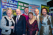 NO FEE PICTURES<br /> 23/1/16 Minister for Tourism Michael Ring and Maureen Ledwith, organiser of the Holiday World Show at the Nire Valley County Waterford stand at the Holiday World Show at the RDS in Dublin. Picture: Arthur Carron
