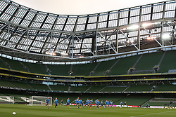 07.10.2015, Avia Stadium, Dublin, IRL, UEFA Euro Qualifikation, Training Deutschland, Irland vs Deutschland, im Bild Mannschaft beim Aufwaermen // during a Trainingssession of German National Football Team before the away Match against Ireland at the Avia Stadium in Dublin, Ireland on 2015/10/07. EXPA Pictures © 2015, PhotoCredit: EXPA/ Eibner-Pressefoto/ Schueler<br /> <br /> *****ATTENTION - OUT of GER*****