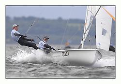 470 Class European Championships Largs - Day 3.Brighter conditions with more wind...GER10, Ferdinand GERZ, Patrick FOLLMANN, Deutscher Touring Yacht Club