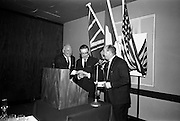 16/11/1966<br /> 11/16/1966<br /> 16 November 1966<br /> O'Brien Plastics Ltd., Bishopstown, Cork reception at the Intercontinental Hotel, Dublin to announce that Phillips Petroleum Company, Oklahoma U.S.A had acquired a 50% interest in O'Brien Plastics. Picture Shows (l-r): Paddy Gaynor; Alderman Sean Casey, T.D., Lord Mayor of Cork and Mr. William O'Brien.