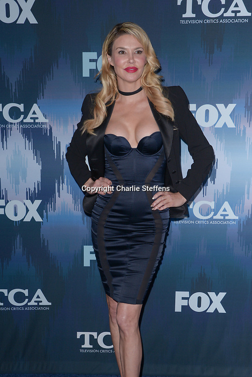 BRANDI GLANVILLE at the Fox Winter TCA 2017 All-Star Party at the Langham Hotel in Pasadena, California