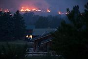 Fires burn on the hillsides above Twisp, Wash. Thursday, Aug. 20, 2015.<br /> <br /> Erika Schultz / The Seattle Times